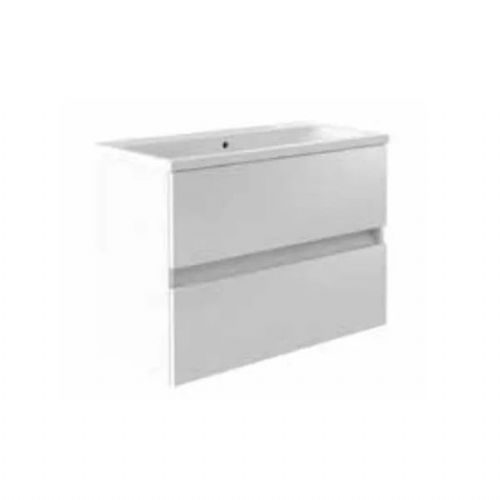 Kartell Ikon 2-Drawer Wall Mounted Vanity Unit With Basin - 800mm - White